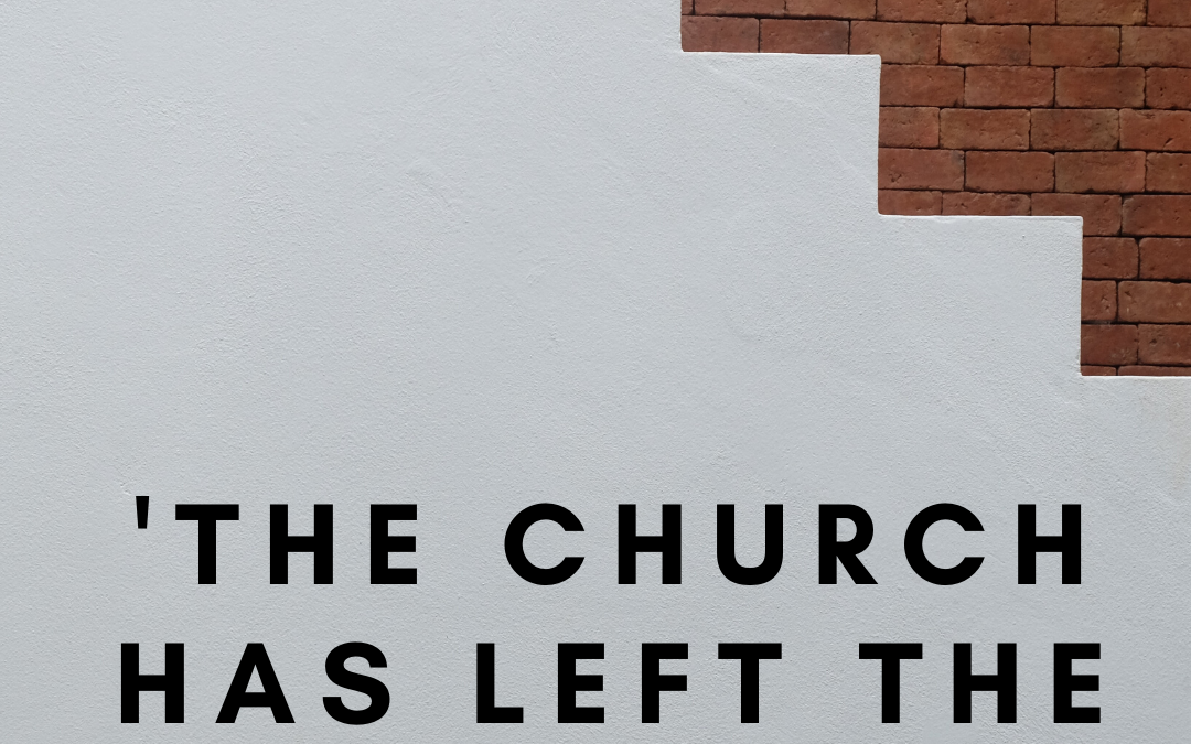 The Church has left the building.